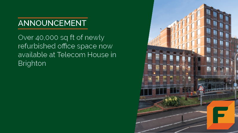 Over 40,000 sq ft of Newly Refurbished Office Space now available in Brighton